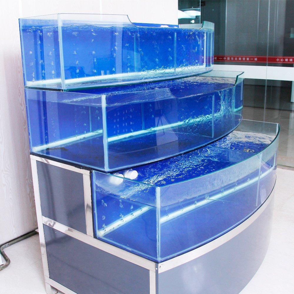 Использование торговых аквариумов для продажи живой рыбы